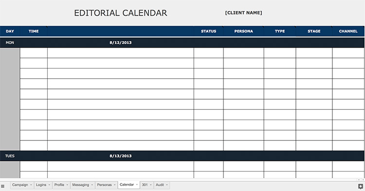 Content Calendar Templates To Help Your Content Strategy  Market