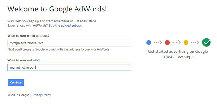 google-adwords-account-setup-step2